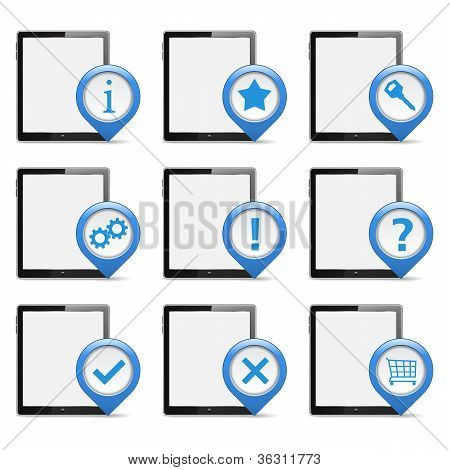 Tablet computers with icons