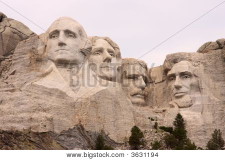 Close-Up Of Mount Rushmore, Black Hills, Utah