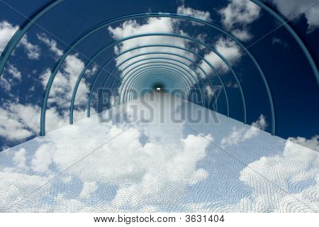Tunnel In Clouds