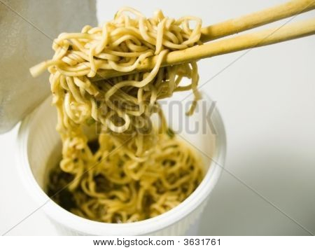 Noodle Cup With Chopsticks