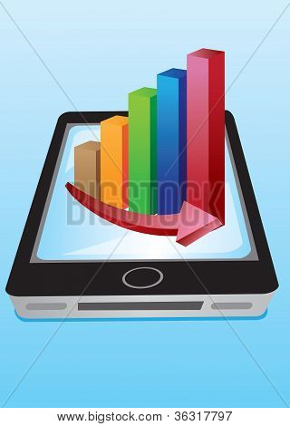 Vector Stock Charts Handphone