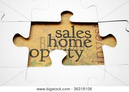 Vertrieb-Home-Puzzle-Konzept