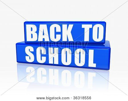 Back To School In Blue Boxes