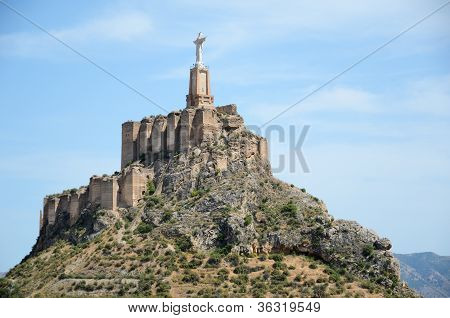 Steep Hill Of Monteagudo With Islamic Castle