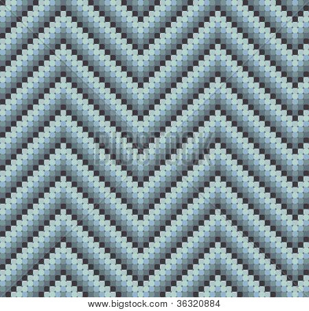 Seamless 60's Retro Zigzag Pattern Cool