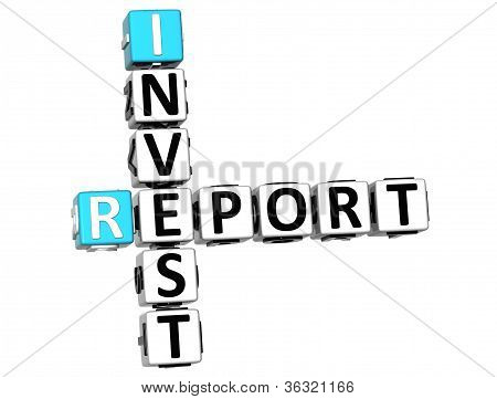 3D Invest Report Crossword