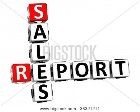 3D Sales Report Crossword