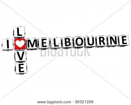 3D I Love Melbourne Crossword