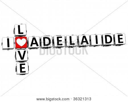 3D I Love Adelaide Crossword