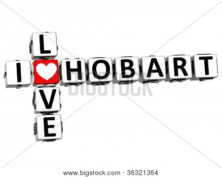 3D I Love Hobart Crossword