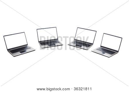 Ultrabook Laptop Isolated White