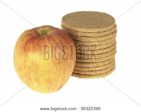 Apple with Oakcake Biscuits
