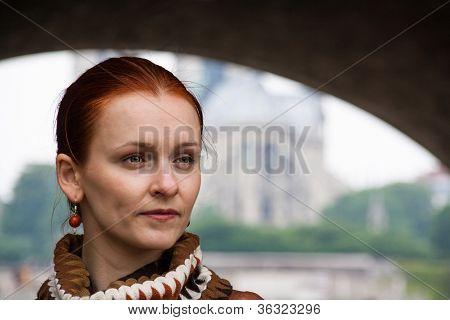 Tourist by the Seine