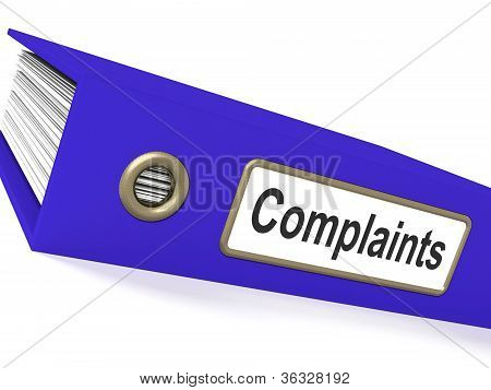 Complaints File Shows Complaint Reports And Records
