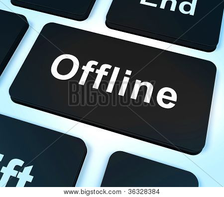 Offline Key Shows Internet Communication Status Disconnected