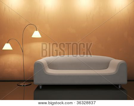 The Interior With Sofa