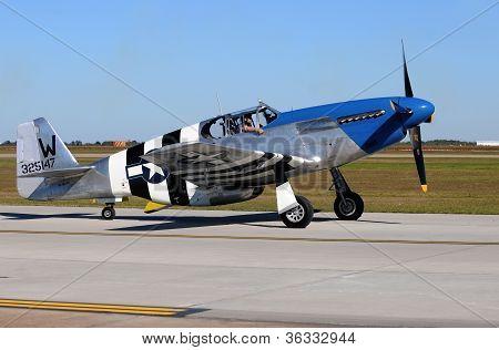 World War 2 Era P-51C Fighter Plane
