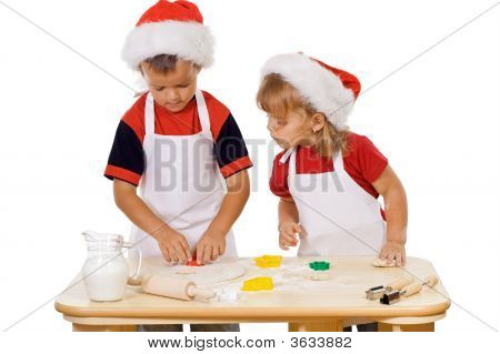 Preparing The Christmas Cookies