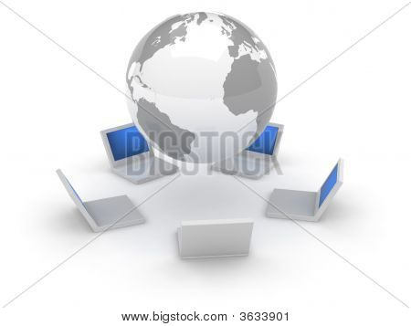 3D Web Icon - Internet