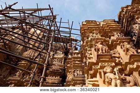 famoso templo erótico de Khajuraho