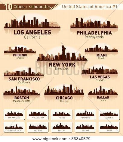 Skyline City Set. 10 Cities Of Usa #1