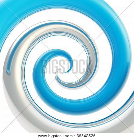 Twirled Curve Tube Vortex As Abstract Background
