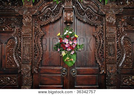 Wood Carvings On The Wall As A Decoration