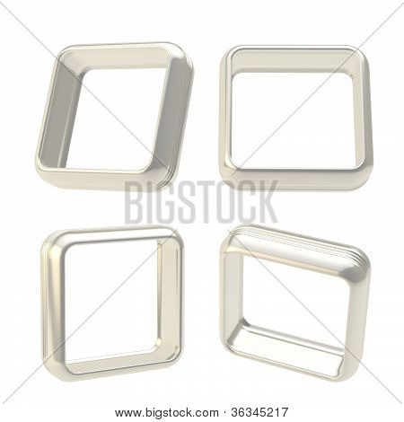 Abstract Frame Boarders Made Of Chrome Metal