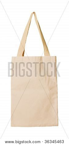 clothes bag isolated white  concept reused save nature and environment