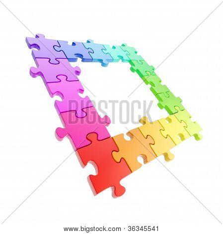 Copyspace Puzzle Frame Made Of Jigsaw Pieces