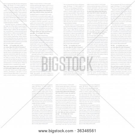 Background In The Form Of Newspaper Page