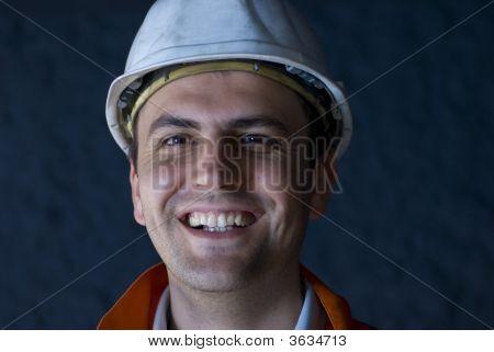 Happy Underground Worker
