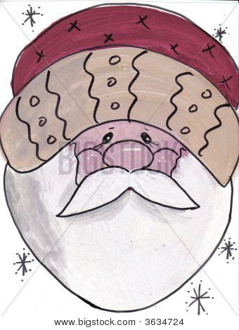 Santa Face Folksy