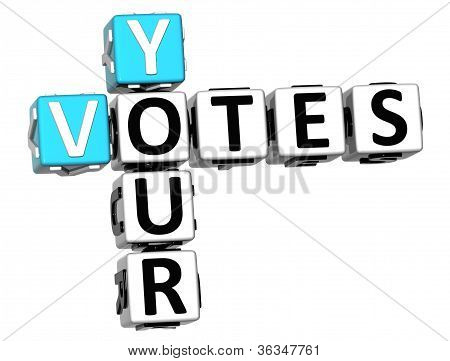 3D Your Votes Crossword