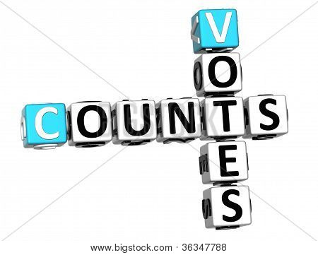 3D Counts Votes Crossword