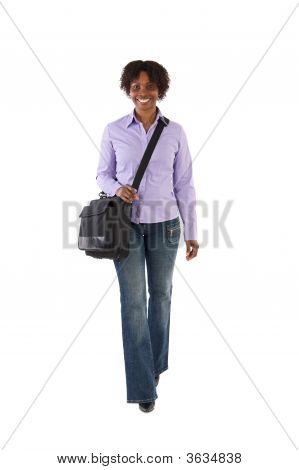 Attractive Business Woman Walking