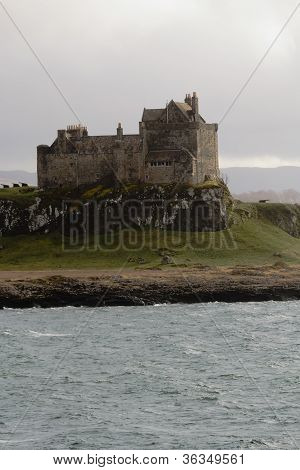 Duart Castle  in the Rain