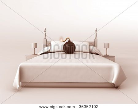 bomb on a bed