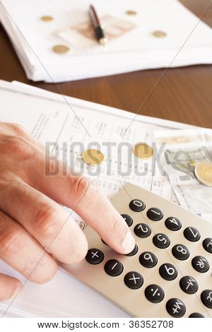 business man doing accounts