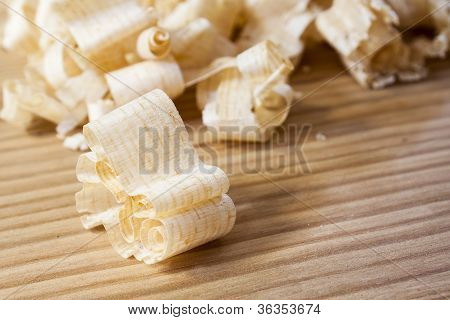 wooden shaving