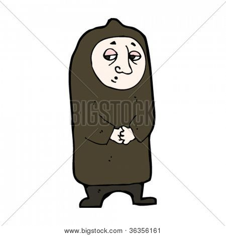 cartoon medieval monk