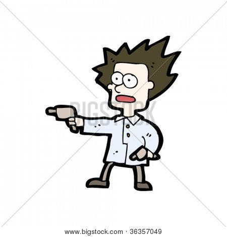 man with guns cartoon