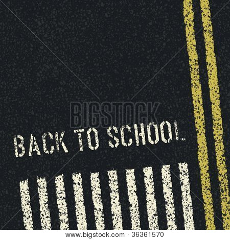 Back to school. Road safety concept. Vector, EPS8