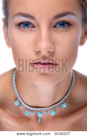 Model In Necklace