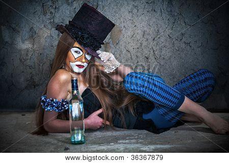 Portrait scary monster clown