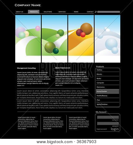 Website template concept. Editable format in portfolio.