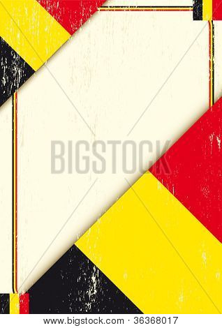 Belgian grunge letter. A poster with a belgian flag