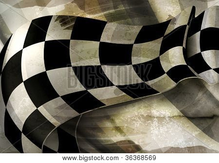 Background Horizontal Checkered, old-style vector