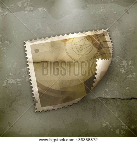 Blank Postage stamp, old-style vector