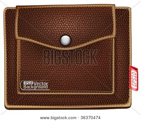 brown purse. vector